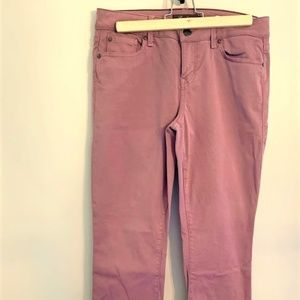 Anthropologie Level 99 Mauve Jeans Lily Skinny